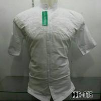 Baju Muslim Pria Kemeja Koko Baju Koko Putih Bordir Putih KKC 015