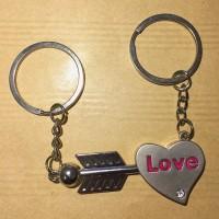 Gantungan Kunci Heart Couples Metal Love Couple KeyChain XXH10
