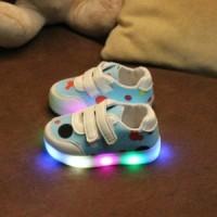 Walker Shoes Sepatu LED Bayi Anak Blue Biru