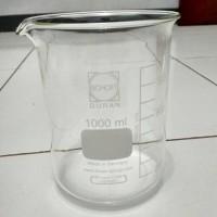 Duran Beaker Glass 1000 ml low form/Gelas Kimia Duran