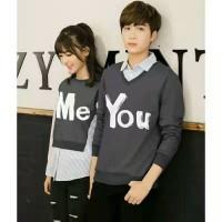 Sweater You Me Kombinasi Grey