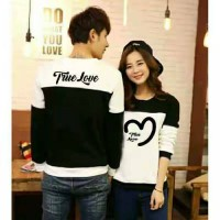 Sweater True Love Black White