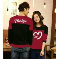 Sweater True Love Black Maroon
