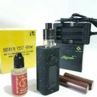 Paket Ngebul HUGO BOXER v2+RDTA+Baterai18650+Liquid Siap pakai