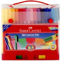 Connector Pen 30 Warna Faber Castell Gift Set