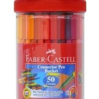 Connector Pen 50 Warna Faber Castell Jar / Botol