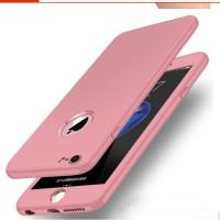 Casing Silicon Karet New 360 Iphone 5 5s SE 6 6s 6 plus 7 7 plus Pink