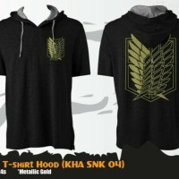 Kaos Anime Attack On Titan Spesial Gold T-shirt Hoodie (KHA SNK 04)