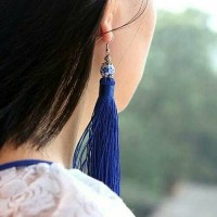 Anting Korea Colorful Ceramics Tassel/Anting Bulu Panjang/Anting Murah