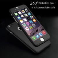 Hardcase 360 Iphone 7/8/6+/7+/8+Neo Hybrid Full Body Case Cover Casing - Hitam