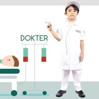 SERAGAM PROFESI ANAK DOKTER PEREMPUAN LAKI / DOKTER CILIK PUTIH 606