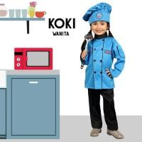 SERAGAM PROFESI ANAK KOKI / Baju Profesi Anak Koki Biru 631
