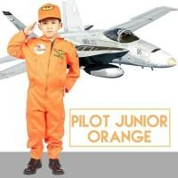 BAJU SERAGAM PROFESI ANAK LAKI LAKI PILOT JUNIOR ORANGE 634