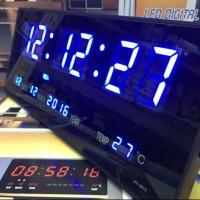 Jam Digital 3615 Warna Biru/DEKORASI TERBARU JAM DIGITAL LED DINDING