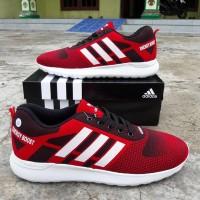 Sepatu Jumbo Adidas Neo Energy Boost Merah Sport Jogging Big Size