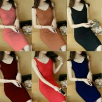 dress mini / gaun mini / rajut / knit / bodycon / stretch / sexy