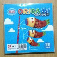Origami Kertas Lipat 16x16 Polos Sidu (Sinar Dunia) 100 lembar