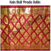 Kain Bali Prada Satin Merah Pakaian Adat Bali Tari Bali Lenatha