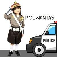 BAJU SERAGAM PROFESI ANAK POLISI POLWANTAS PEREMPUAN 635