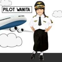 SERAGAM PROFESI ANAK PILOT PEREMPUAN / PILOT CILIK ROK 608