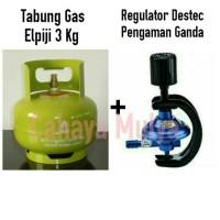 Tabung Gas Elpiji 3 Kg Isi Penuh + Regulator Destec Non Meter