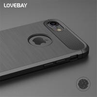 Lovebay Carbon Fiber II TPU Soft Case iPhone 5 5s SE 6 6s 7 Plus - Hitam, iPhone 5 5s SE