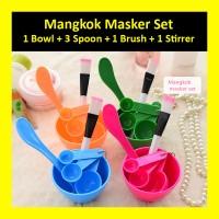 Mangkok Masker Korean DIY Mangkuk Mask Wajah 1 Set Sendok Kuas Stirrer - Random
