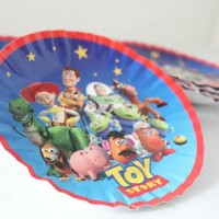piring kertas toy story / paper plate toy story isi 12 diameter 14cm