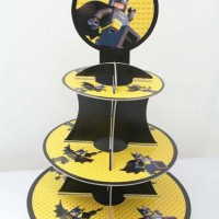 Cupcake stand Batman lego / cupcake 3 tier Batman lego party stock