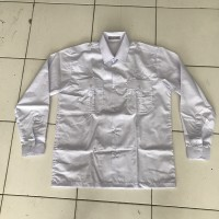 Baju PNS / Kemeja PNS lengan panjang putih bahan oxford