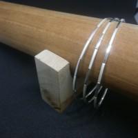 Gelang Keroncong-Perak 925 Model 1 (BR001)-Custom Order dia.6.8 cm