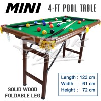 Mini Pool Table 4-ft Wood - Mainan Hadiah Anak Meja Biliar Billiard