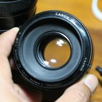 Lensa fixed Canon 50mm f1.8 IS II