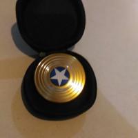 Fidget spinner captain america gold