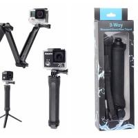 Tongsis GoPro 3 Way (Tongkat Selfie, Tongkat Narsis & Monopod GoPro)