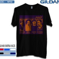 Kaos naif band original gildan softstyle 2