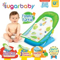 Sugar Baby Deluxe Baby Bather Timmy Turtle Green Alas Dudukan Mandi Ba