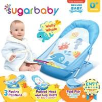 Sugar Baby Deluxe Baby Bather Wolly Whale Blue Alas Dudukan Mandi Bayi