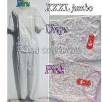 baju tidur piyama dewasa wanita jumbo kembang