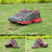 Sepatu Outdoor Keta 193 - Grey Red / running / olahraga
