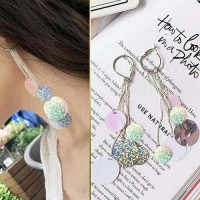 Anting Korea Tassel Color Nightclubs Earrings/Anting Import Cantik