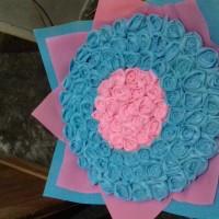 buket bunga flanel termurah