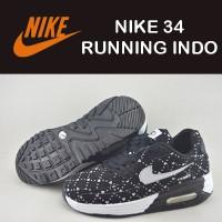 sepatu pria Nike 34 Running Indo Doff hitam