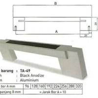Handle / Pegangan / Tarikan Aluminium TA-49 160mm merk Huben
