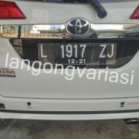 Cover plat nomor acrylic cembung custom toyota calya / daihatsu sigra