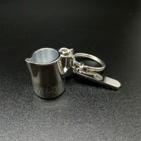KEYCHAIN / GANTUNGAN KUNCI COFFEE (KOPI) STAINLESS - MILK JUG