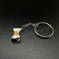 KEYCHAIN / GANTUNGAN KUNCI COFFEE (KOPI) ALLOY - CHEMEX
