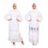 Fayrany FGP-008 Size 7 - 12 Baju Muslim Anak Gamis - Putih