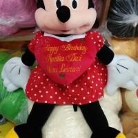 Boneka Mickey / Minnie Mouse Jumbo ukir nama