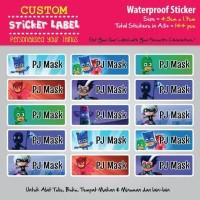 Sticker Label Nama - PJ Mask - stiker waterproof